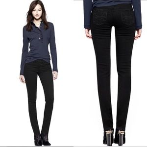 Tory Burch Black Super Skinny Jeans